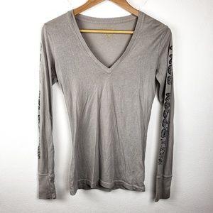 True Religion | Gray Pullover Long Sleeve Small